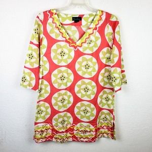 "Boden ""222"" V-Neck Floral Tunic Dress"